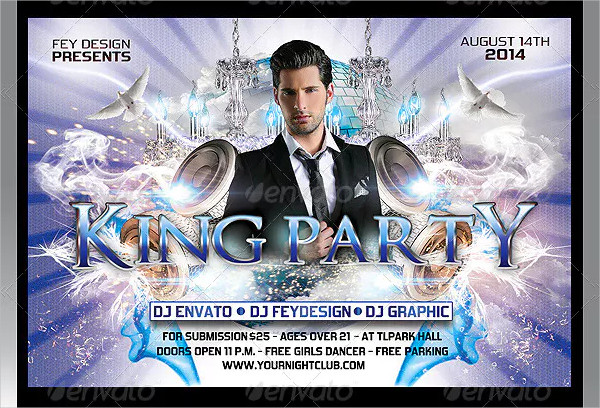 Best King Party Flyer Template