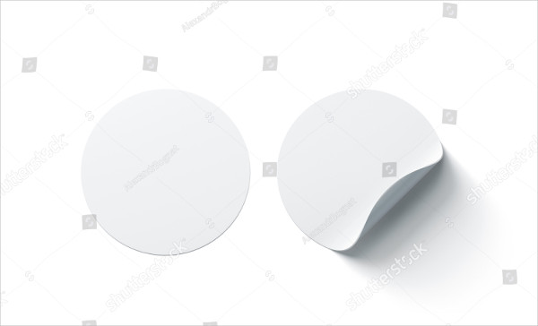 Blank Stickers Mockup Template