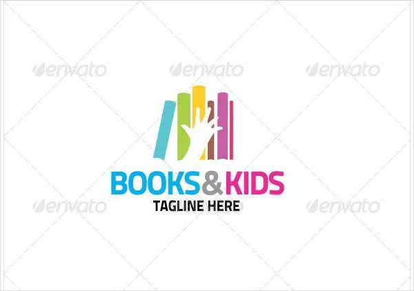 Books & Kids Logo Design