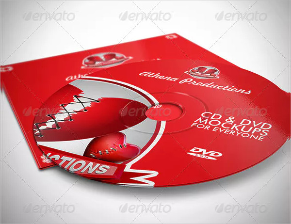 CD Sleeve & Sticker Mockups Design