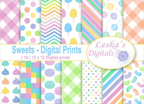 Candy Digital Paper Patterns