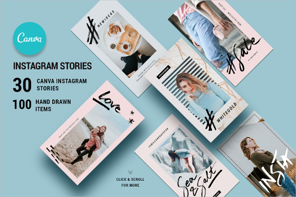 Canva Instagram Hand-Drawn Stories