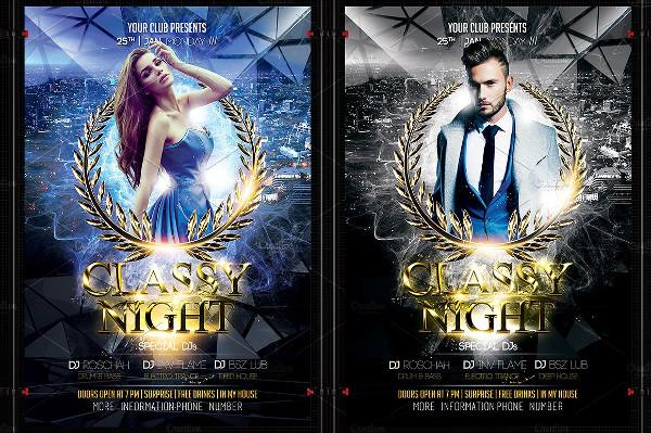Classy Night Flyer Template