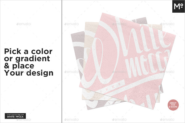 Coined Paper Napkin Mock-Up