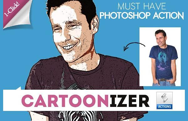 Comic Cartoon Photoshop Action