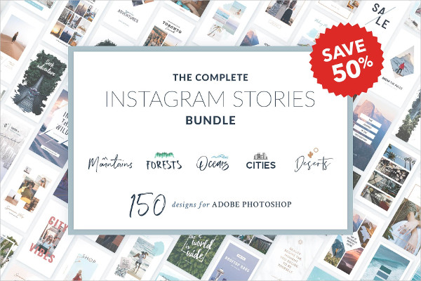 Complete Instagram Story Template Bundle