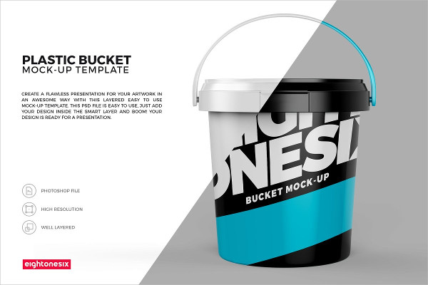 Cool Bucket Mock-Up Template