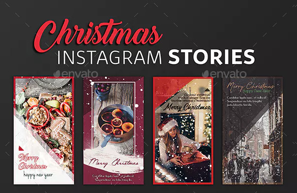 Cool Christmas Instagram Story Template Pack