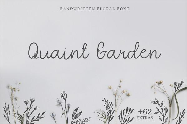 Cool Handwritten Floral Font