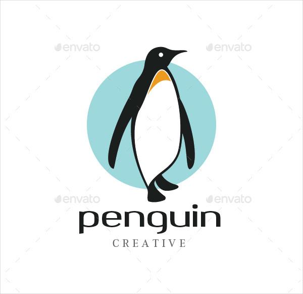 Cool Penguin Logo Design