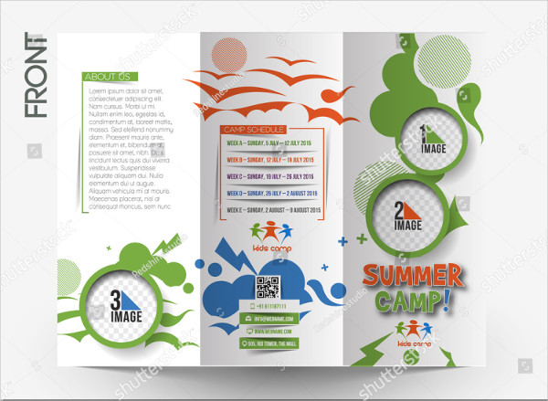 Cool Summer Camp Tri-Fold Brochure Design