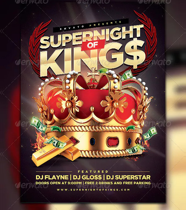Creative Kings Night Party Flyer Template
