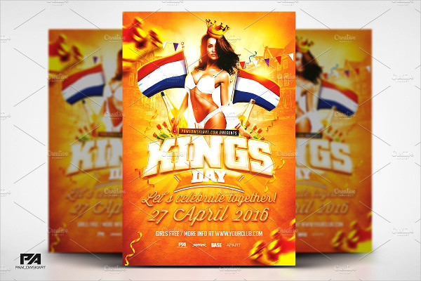 Custom Kings Day Flyer Template