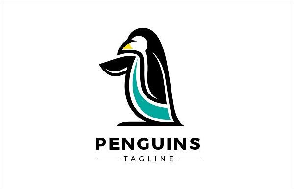 Custom Penguin Logo Design