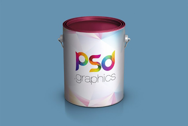 Download Paint Bucket Mock-Up Free PSD
