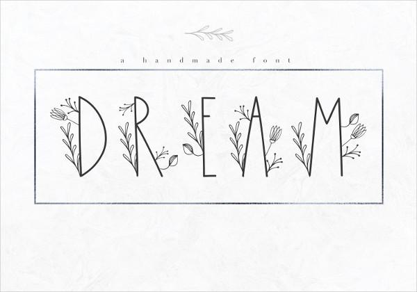Dream Handmade Floral Font