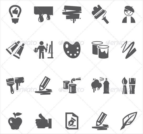 Editable Art Icon Collection