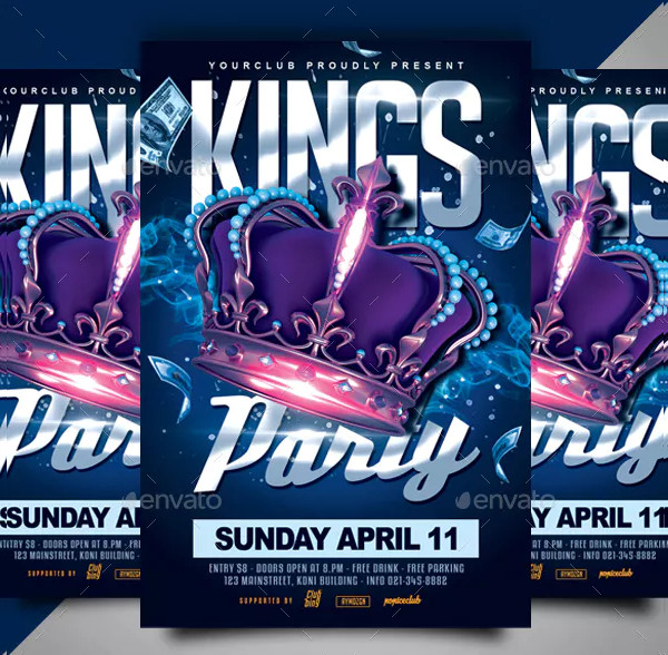 Elegant Kings Party Flyer Template
