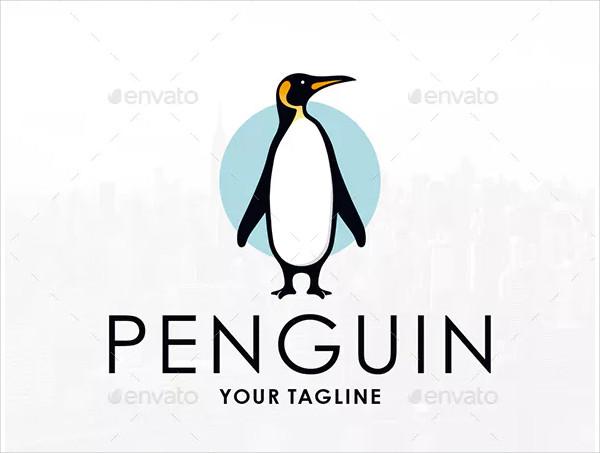 Emperor Penguin Logo Template