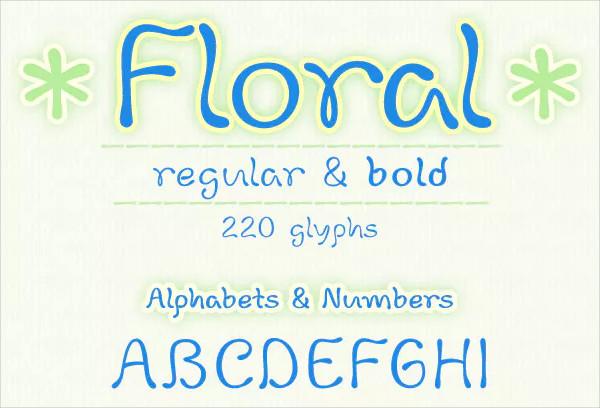 Floral Handwritten Font