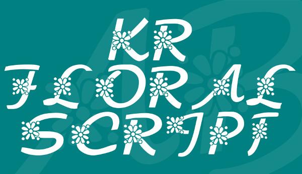 Floral Script Font Free Download
