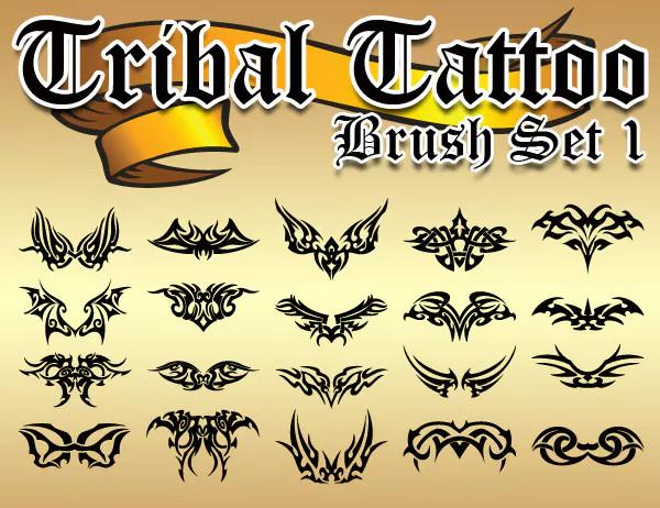 Floral Tattoo Brush Set
