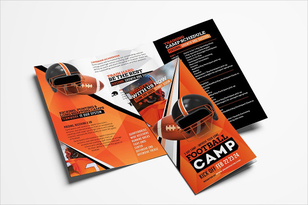 Football Camp Brochure Template