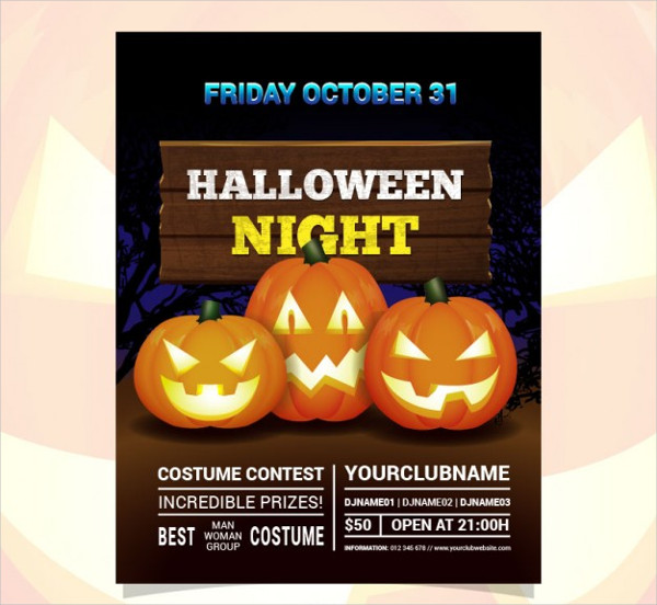 Free Costume Contest Flyer Download