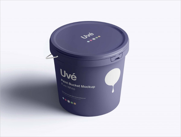 Free PSD Plastic Paint Bucket Mock-up