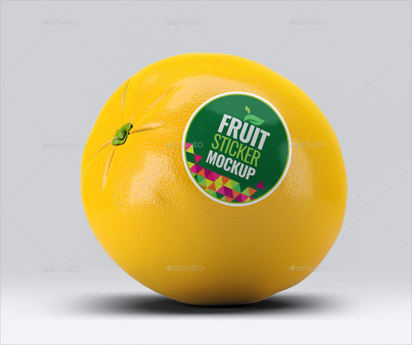 Fruit Sticker Mock-Up Template