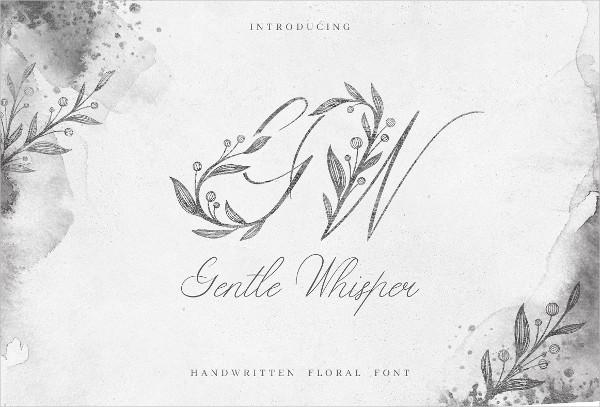 Gentle Whisper Floral Font