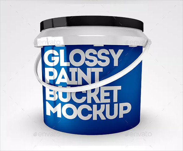 Glossy Bucket Mock-Up