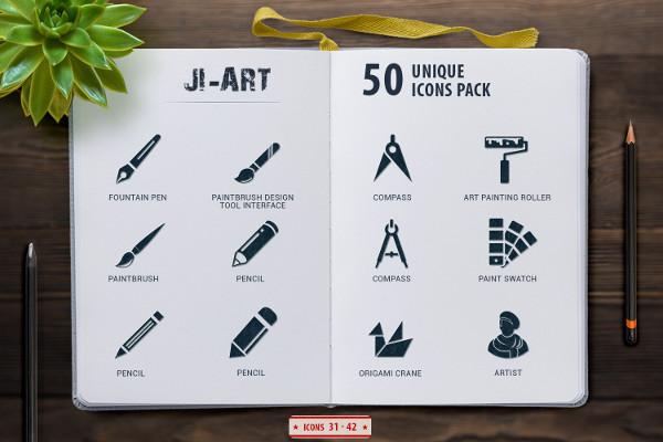 Glyph Art Icon Set