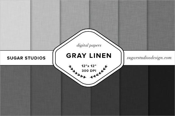 Gray Linen Digital Fabric Backgrounds Set