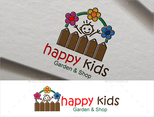Happy Kids Logo Template