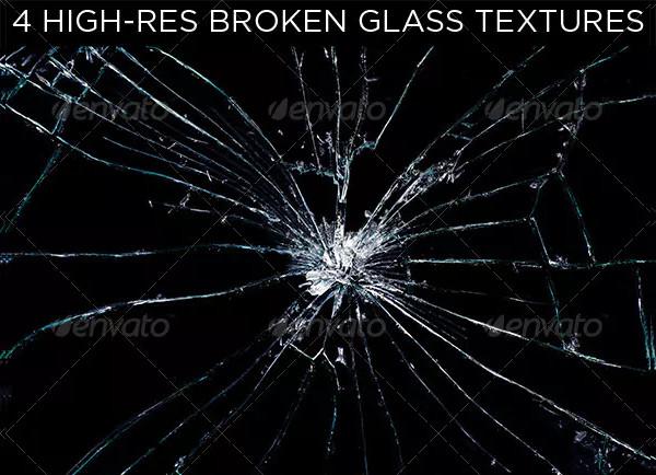High-Resolution Broken Glass Texture Set