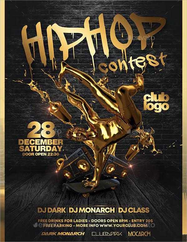 Hip Hop Contest Flyer Design
