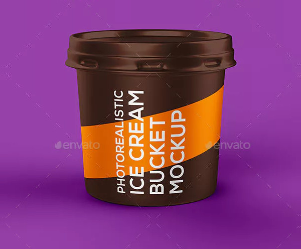 Ice Cream Bucket Mock-up
