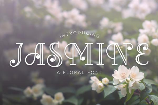 Jasmine Floral Font