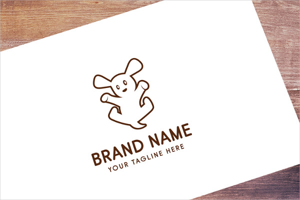 Jumping Puppy Logo Template