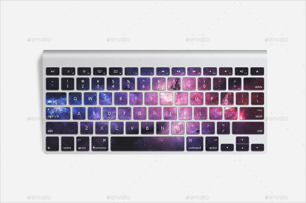Keyboard Sticker Mock-Up Design