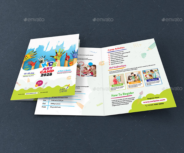 Kids Art Camp Bifold Brochure