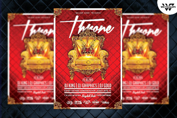 King Throne Flyer Template