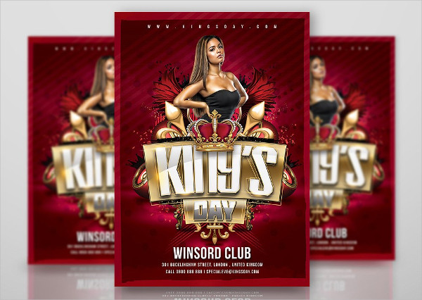 Kings Day Flyer Design