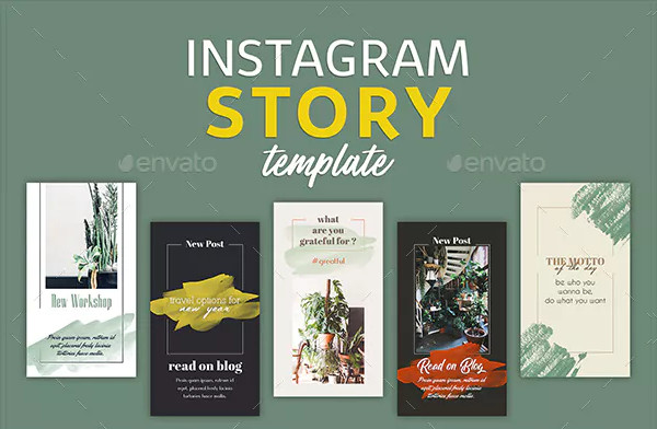 Lifestyle Instagram Story Templates Design
