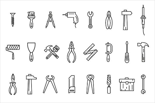 Line Art Icon Tool Set