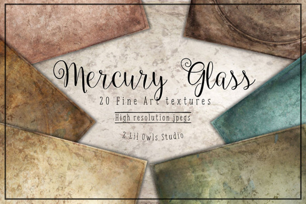 Mercury Glass Fine Art Texture Set