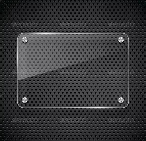 Metal Texture with Glass Framework
