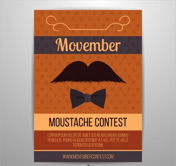 Moustache Contest Flyer Free Download