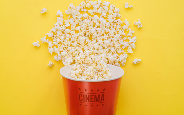 Movie Mock-Up with PopCorn Bucket Free